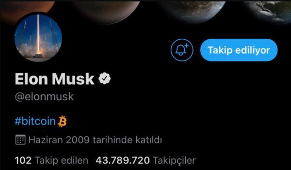 """Tesla CEO'su 29 Ocak'ta """"Bitcoin"""" sözcüğünü Twitter biyografisine eklemiş ve BTC"""