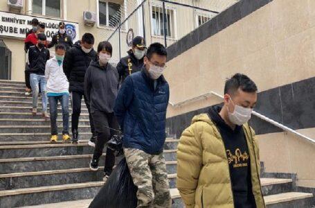 9 villa kiralayıp kripto para dolandırıcılığı yapan Çinlilere operasyon,