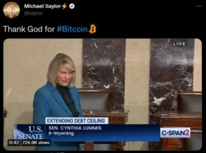 """Senatörden ses getirecek itiraf: """"Şükürler olsun ki Bitcoin var!"""""""